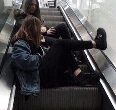 Escalator fun times with friends