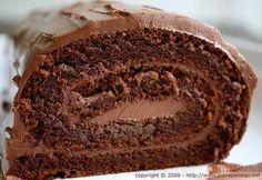 Rocambole de chocolate simples