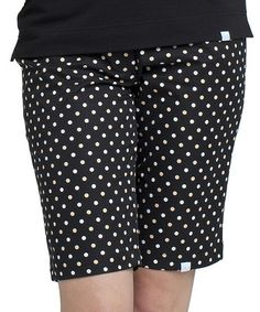 Another great find on #zulily! Black Ashley Polka Dot Bermuda Shorts by GGblue #zulilyfinds