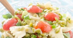 Talk about fresh tasting - - go with anything salad! Most of us associate green split peas with green split pea soup. You don't have to do that anymore beca