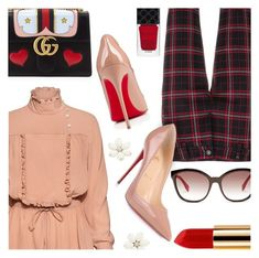 """Touch of Romance"" by stacey-lynne ❤ liked on Polyvore featuring Fendi, Stella Jean, Cambio, Christian Louboutin, Gucci and Yves Saint Laurent"