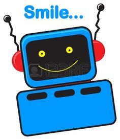 illustration of cartoon robot character photo