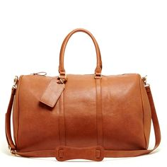 Women's Brown Vegan Leather Oversized Vegan Weekender | Lacie by Sole Society