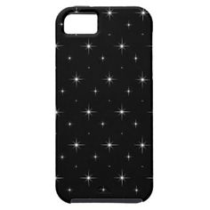 Stargazing - Black And Bright Stars Pattern iPhone 5 Case