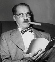 'Outside of a dog, a book is a man's best friend. Inside of a dog, it's too dark to read.'     - Groucho Marx