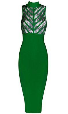 Carillon Green Bandage Dress
