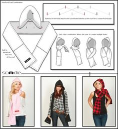 Official    Site Clothing Scoodie  hooded Scarves, pattern Hooded and Scarf,  – scarf