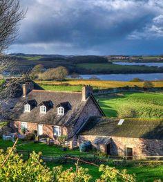 Delightful Cornish farm buildings from around 1850. Mount Edgcumbe, Cornwall