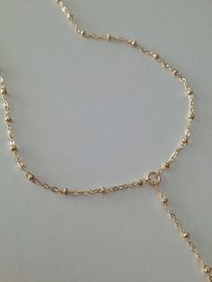 14k Gorgeous Gold Filled Lariat Necklace by ErinElizabethCarson
