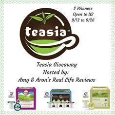 Teasia Giveaway ~ 3 Winners! Ends 9/26