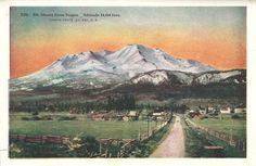 Writerquake: Old Postcard Wednesday--Mt. Shasta from Sisson