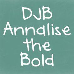 DJB Annalise the Bold Font @ Teachers Pay Teachers -- how cute is this?!