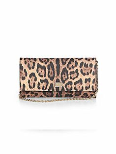 Dolce & Gabbana Leopard-Print Coated Canvas Chain Wallet