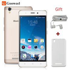 무료 케이스 blackview a8 스마트 폰 mtk6580 5.0 인치 ips hd 쿼드 코어 안드로이드 5.1 모바일 휴대 전화 1 기가바이트 RAM 8 기가바이트 ROM 8MP 3 그램 GPS