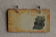 Vintage hand dyed typewritter notepad by ragreams on Etsy, $8.00