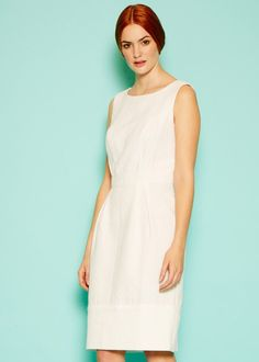 Margo Shift Dress in Eco White White Dress, High Neck Dress, Free, Dresses, Fashion, Turtleneck Dress, Vestidos, Moda, Fashion Styles