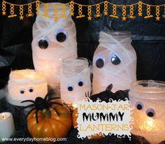 Mason Jar Mummy Lanterns