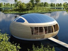 "Cost: $500,000 and upIf you're looking for a solar-powered home on the water: London-based EcoFloLife has collaborated with Italian architect Giancarlo Zema to create the Waternest 100. Sleeping up to four in two bedrooms, the ""nest"" is 40 feet in diameter and 13 feet tall, with more than 1,000 square feet of interior space (including a living room, bathroom, and kitchen). It can be floated on just about any calm lake or slow-moving river"