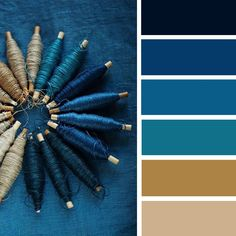Blue Teal And Taupe Color Palette French Cau Theme