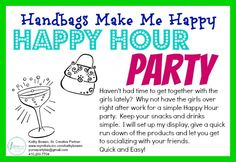 Host a Quick and Easy! Happy Hour Party Kathy Bowen, Creative Leader located in… Happy Hour Party, 31 Party, Host A Party, Thirty One Games, Thirty One Party, Pink Zebra Party, Initials Inc, Thirty One Consultant, 31 Bags