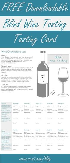 Looking for a fun girls' night in? Host a blind wine tasting party! Get the details on how to host and download this free tasting card on the Rent.com blog!