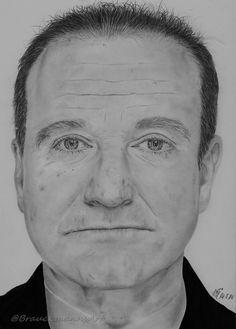 R.I.P Robin Williams pencil drawing on 24x30 paper   https://www.facebook.com/BrauckmannsART