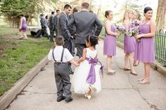 Maryland Zoo Wedding — East Made Event Company and Meghan Rose Photography. Cute flower girl and ring bearer purple wedding