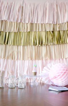 Photo Backdrop, Party Decorations, diy kit By Pomtree party decor