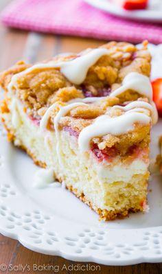 food, crumb cake, lemon cheesecake, cake complet, sweet strawberri, cheesecak fill, cake recipes