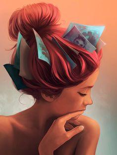 Quando falamos de ilustrações surreais, sempre nos vem na cabeça cenas totalmente fora do nosso cotidiano, encaixando pessoas e coisas em lugares nos quais n