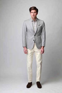 For a more fashion-forward look, the pant hem should hit right at the top of your shoe.