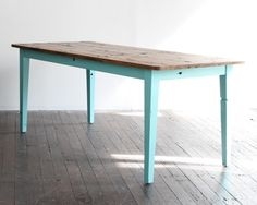 kitchen table - going to get Jared to make me one similar to this I'm thinking . . .