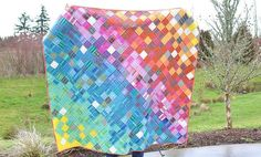 Rainbow Loominous Giant Lap Quilt   Kitchen Table Quilting   Bloglovin'