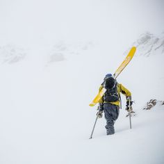 Don't let anything stop you. @vasu_sojitra's saber of choice while venturing into the unknown of the Northern Bridgers. Photo: @seth_langbauer | OutsideOnline.com by outsidemagazine
