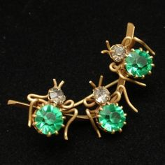3 Insects Bugs Pin Vintage Rhinestones Brooch | eBay