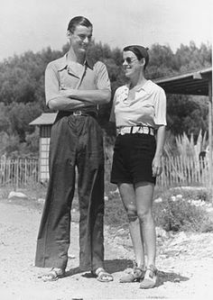 Beatrice Lillie and her son, Sir Robert Peel, Cannes, 1938 by John Phillips