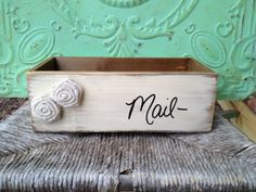 Wooden Ivory Mailbox Home Office Decor by SassySouthernCharm