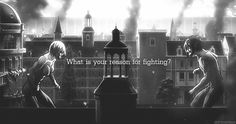 What is your reason for fighting?, text, Annie Leonhart, Titan form, Eren, gif; Attack on Titan