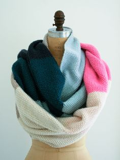 DIY Worsted Twist Seed Stitch Scarf  - The Purl Bee