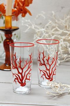 Red Coral Glasses