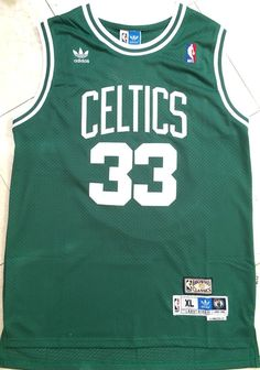 2a1e7cd2f9fc LARRY BIRD  33 Boston Celtics Green Swingman Hardwood Classics Mens Jersey  NWT
