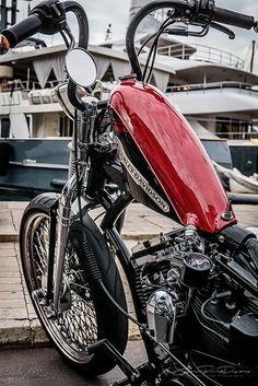 Best Harley Davidson bobber pics Old school - Japan style Harley Bobber, Bobber Motorcycle, Motorcycle Style, Motorcycle Outfit, Harley Davidson Custom Bike, Harley Davidson Chopper, Harley Davidson Sportster, Custom Bobber, Custom Harleys