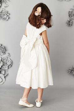 Flower Girl Dress with Oversized Bow from Next