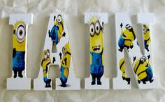 EXAMPLES: Despicable Me Minions, letters, decor, Despicable Me, minions