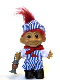 Amazon.com: My Lucky Troll Train Conductor Troll Doll (Red Hair): Toys & Games