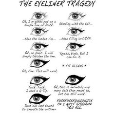 makeup fail - eyeliner is the devil