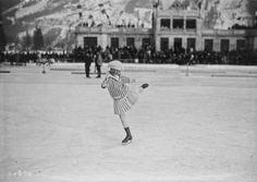 Chamonix, 27/01/1924, miss Sonya Heurie (i.e. Sonja Henie, aux Jeux olympiques d'hiver)   Photographie de presse : Agence Rol