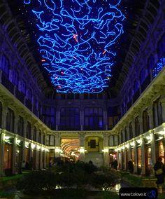 Torino. Luci d'artista nella Galleria Subalpina.