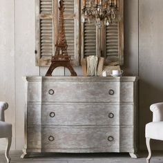 Eloquence Grande Bordeaux Commode in Beach House Natural Finish