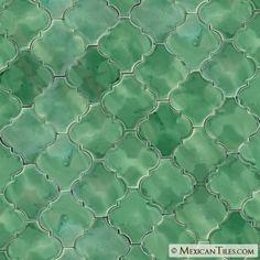 Mexican Tile - Herbal Green Andaluz Terra Nova Hacienda Ceramic Tile